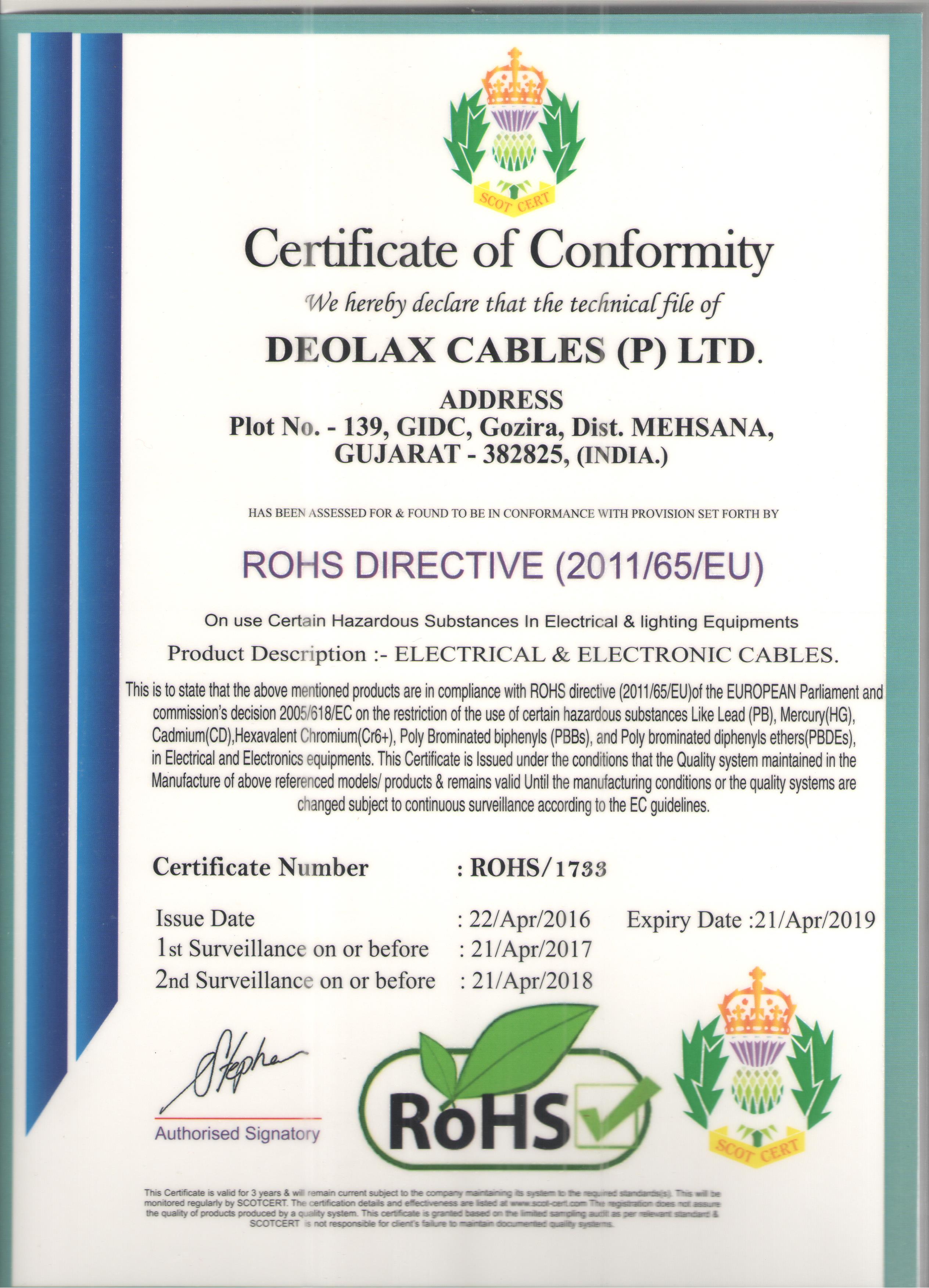 Welcome to Deolax Cables Private Limited